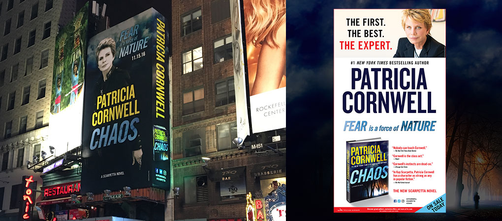 Patricia Cornwell - Chaos - Times Square, NYC - New York Times