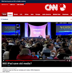 Verso Slides Up on CNN!