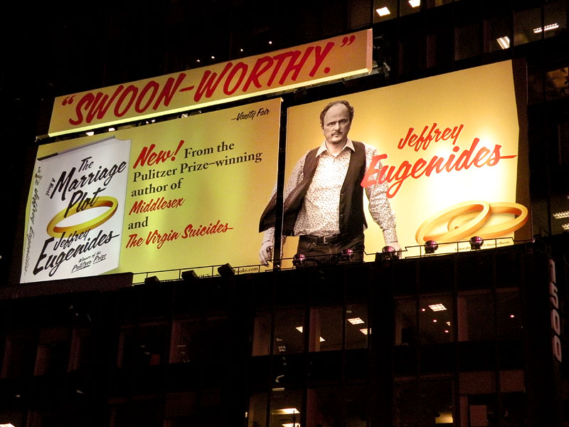 """The Marriage Plot"" billboard in Times Square"