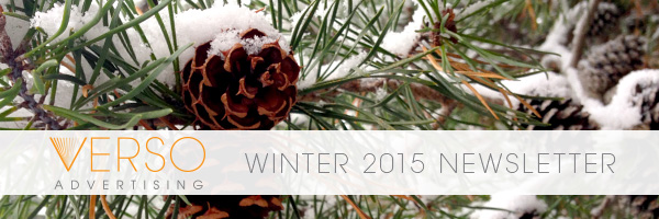 Verso Winter 2015 Newsletter