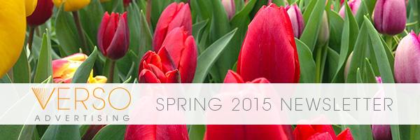 Verso Spring 2015 Newsletter